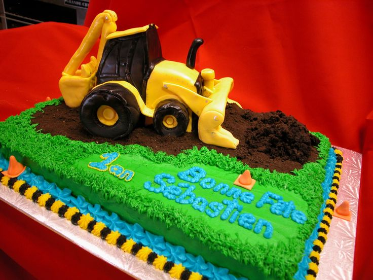 Backhoe Birthday Cake Ideas