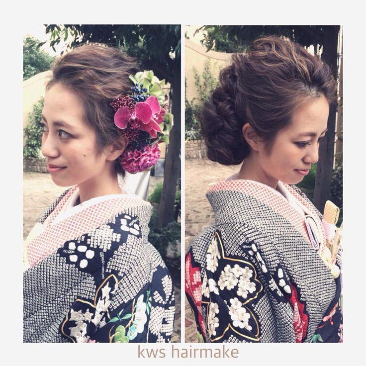 「hairmake:#Ytakahashi ヘッド:@flower_design_sirk 打掛け:#AMESSAkyoto」