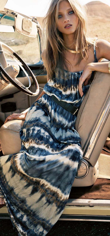 MANGO - Tie-dye maxi-dress  omg going to go buy this asap!