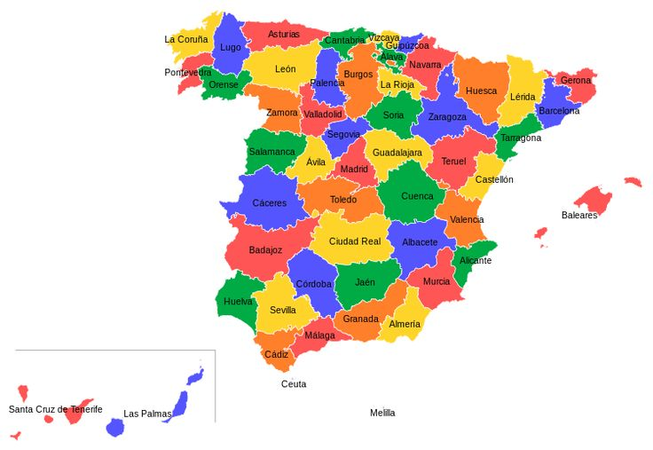 List of provinces of Spain - Wikipedia, the free encyclopedia