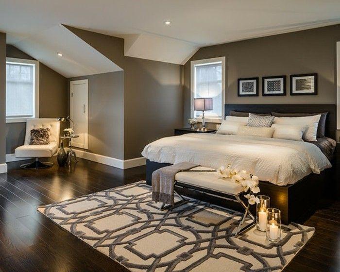 braune wandgestaltung schlafzimmer in braun gestaltet - Wandgestaltung Schlafzimmer Braun