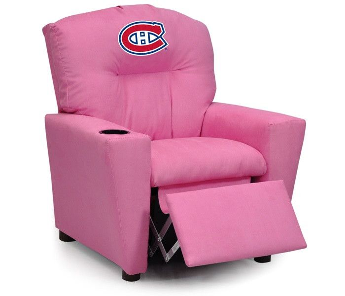 Use this Exclusive coupon code: PINFIVE to receive an additional 5% off the Montreal Canadiens NHL Kids Pink Microfiber Recliner at SportsFansPlus.com
