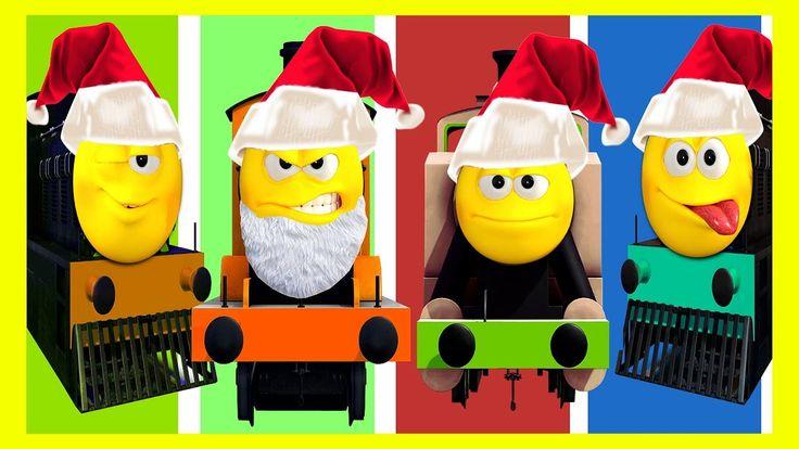 Mega Christmas Santa Train Finger Family Collection | Part 2 | Cartoon T...