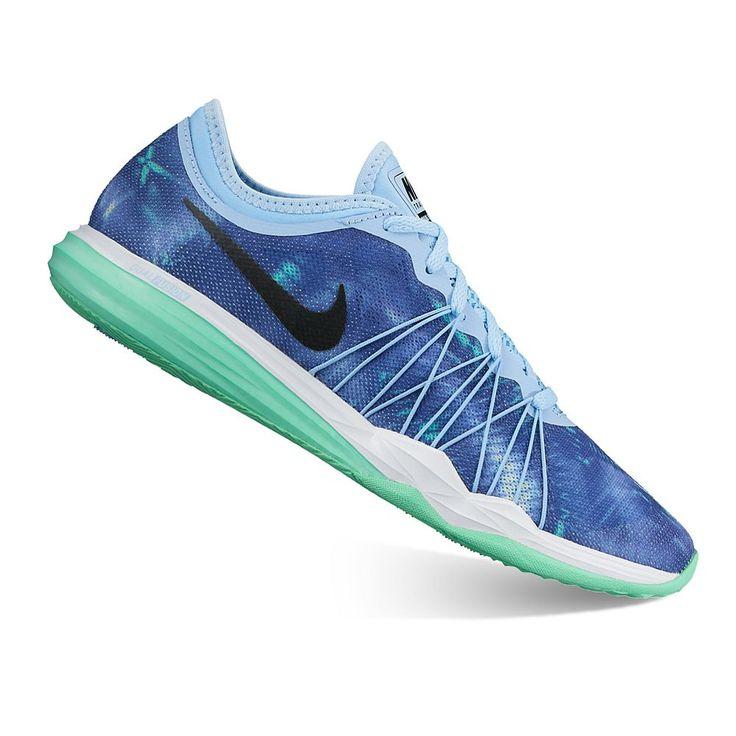 Nike Dual Fusion HIT Print Women's Cross Training Shoes, Size: 8.5, Dark Blue