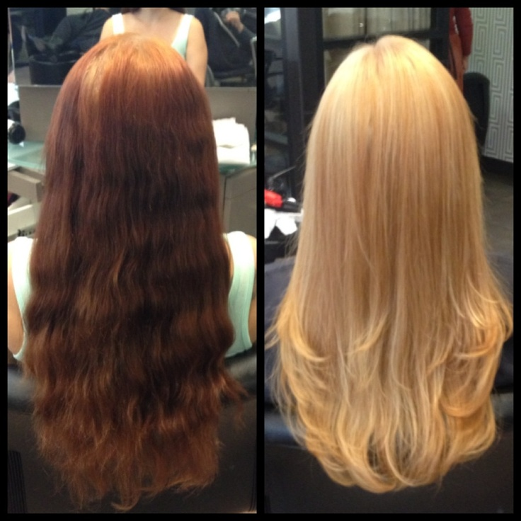 Before And After From Red To Blonde My Work Amp Press In