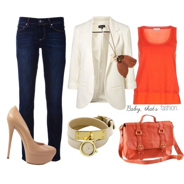 ,: Orange Bag, Casual Night Outfit