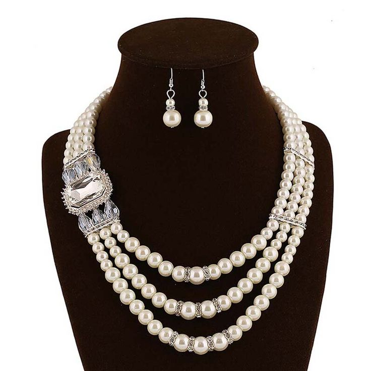Pas cher Incroyable perles africains ensemble de bijoux perles de cristal collier ensemble de mariage Nigerian africain ensemble de bijoux en cristal bijoux 1540403, Acheter  Lots de joaillerie de qualité directement des fournisseurs de Chine:                                                    Bienvenue à en gros!