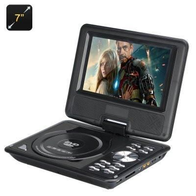 "Portable DVD Player, 7"", Wide screen, Black"