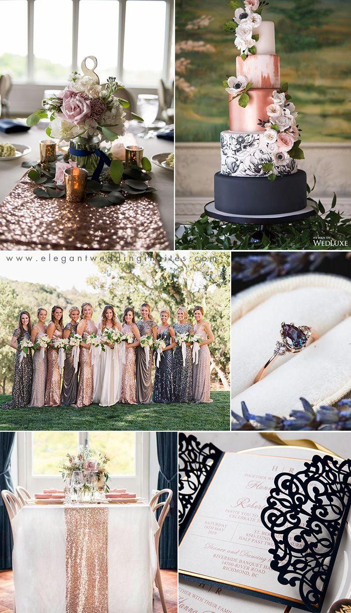 2021 Wedding Trends Chic Rose Gold Wedding Ideas Elegantweddinginvites Com Blog In 2020 Rose Gold Wedding Cakes Rose Gold Wedding Inspiration Wedding Rose Gold Theme