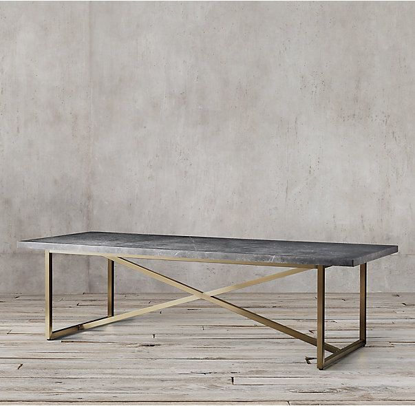 Attractive RHu0027s Torano Marble Rectangular Dining Table:Exemplifying The Cool Minimalism  Of 1970s Italian Design, Torano Juxtaposes An Austere X Base Mu2026