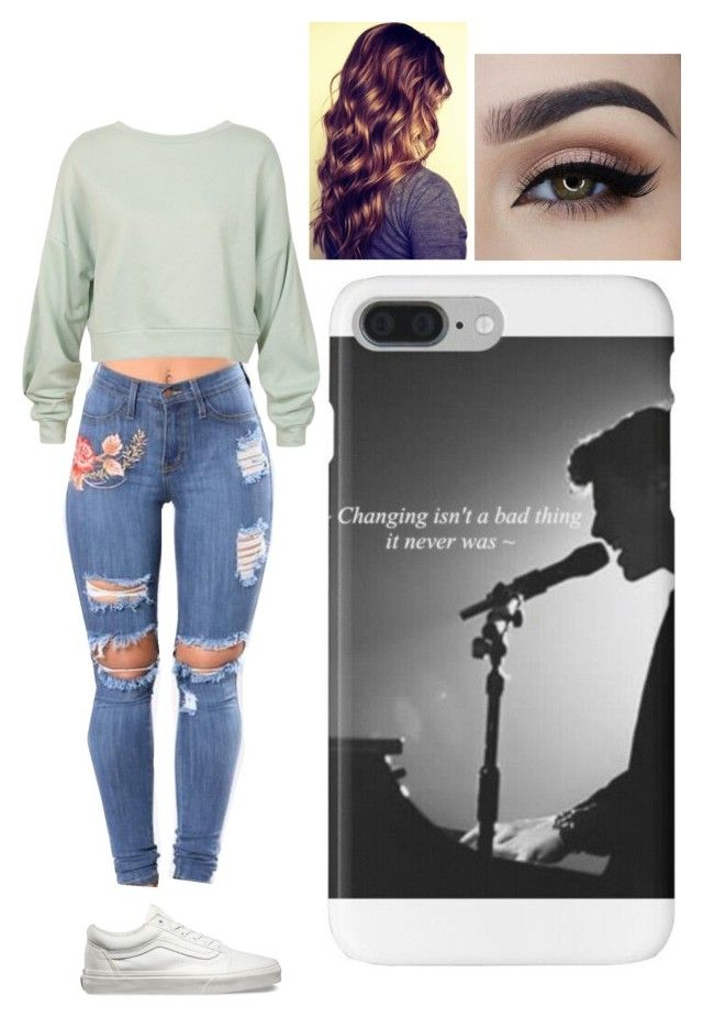 """""""Untitled #1004"""" by ilianavaldez on Polyvore featuring Sans Souci and Vans"""