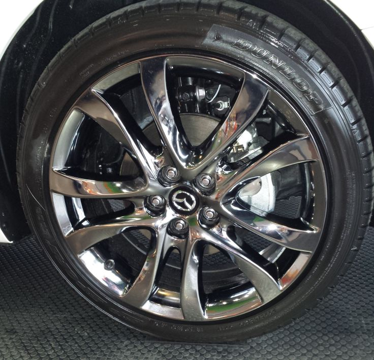 Black Chrome Wheels On A 2014 Mazda6 Cars Pinterest