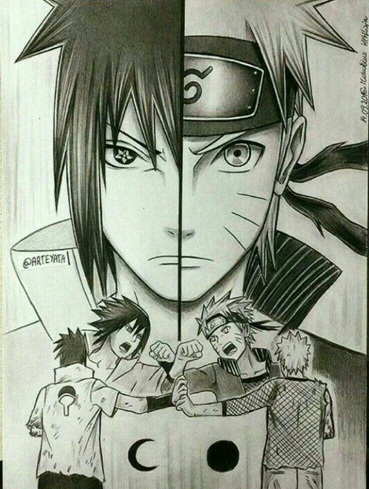 Pin oleh Shoru Miyuki di Naruto Shipuden Sketsa, Animasi