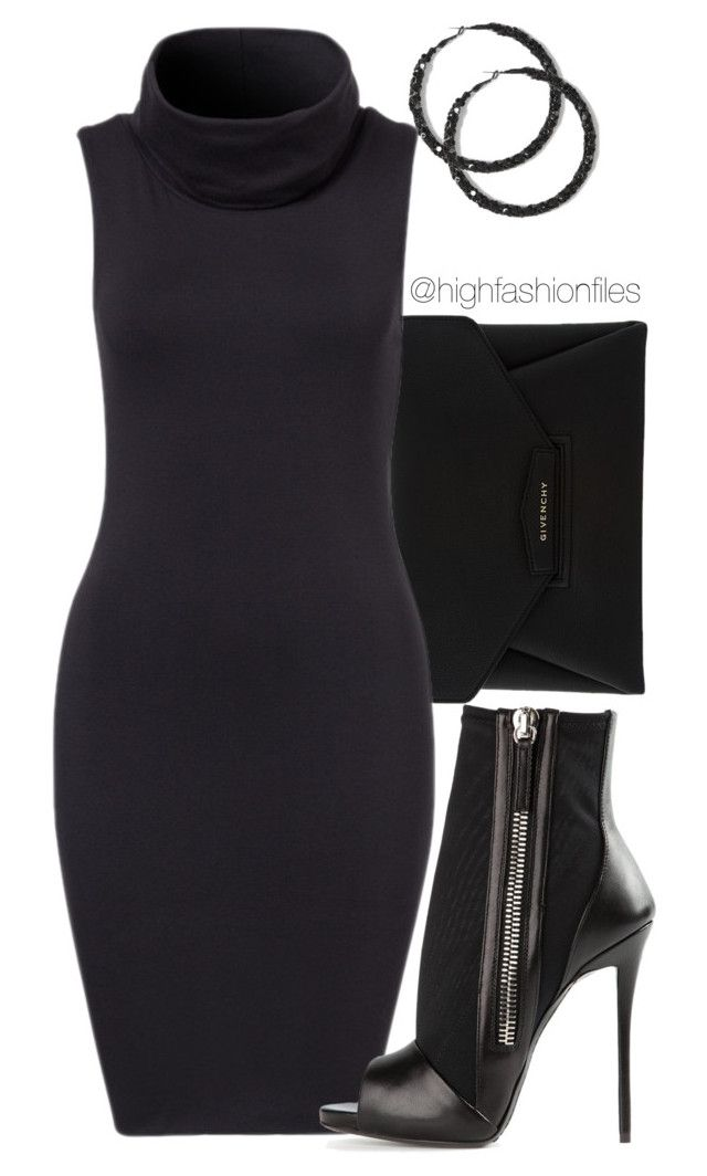 """""""No Script"""" by highfashionfiles ❤ liked on Polyvore featuring Givenchy and Giuseppe Zanotti"""