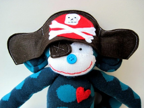 Sock Monkey Pirate! | All things Baby! | Pinterest