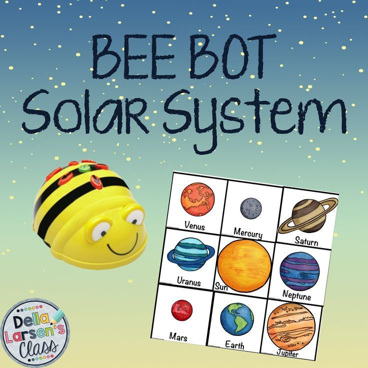BEEBOT solar system squares. This product is designed to be used with a programmable BEE BOT robot. The product includes all 9 planets and 3 extra bonus squares so you can make either a 3x3 mat or a 3x4 mat. The planet picture cards should be cut out and made into a mat. There are matching picture cards. Students will pick a card and then program the Bee-Bot to go to matching picture on the mat.