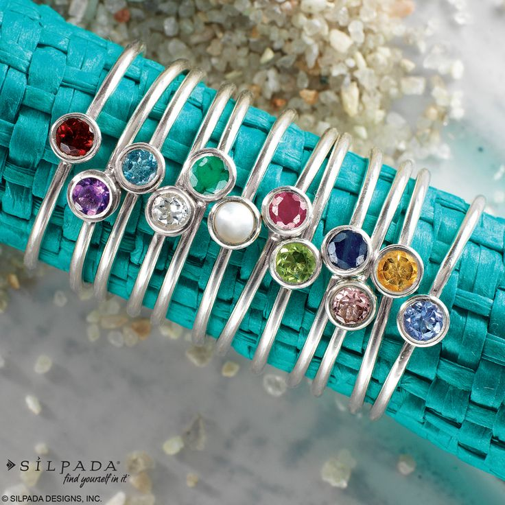 Stack 'em high! #Birthstone #Rings | #WomensFashion