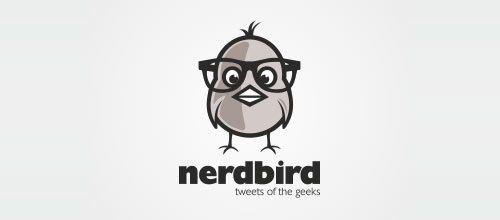 Double concept logo design: Nerdbird