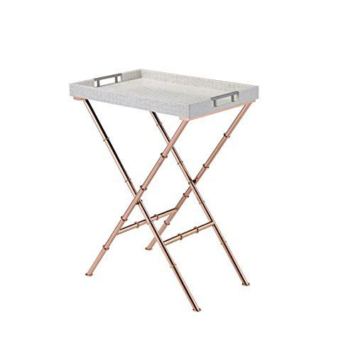Set this contemporary serving tray table to any sudden family or friend's events. Use it as a portable laptop computer table, game table, sofa table, snack table in front of the TV, enjoying breakfast in bed, studying, reading and much more. It has a distinctive look with its sturdy metal... more details available at https://furniture.bestselleroutlets.com/game-recreation-room-furniture/tv-trays/product-review-for-comfortscape-portable-snack-serving-tray-table-ivory-rose