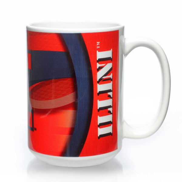 Illinois Fighting Illini 15oz. Carbon Fiber Ceramic Mug – White - $11.99