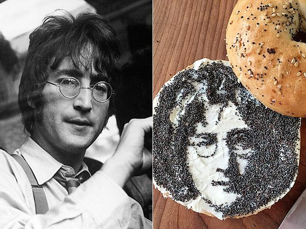 "It's not uncommon to hear a plate of food described as ""a work of art,"" but for Instagram artist Jessie Bearden, food is actually a tool for creating art. #celebrity_portraits #food_art #john_lennon"