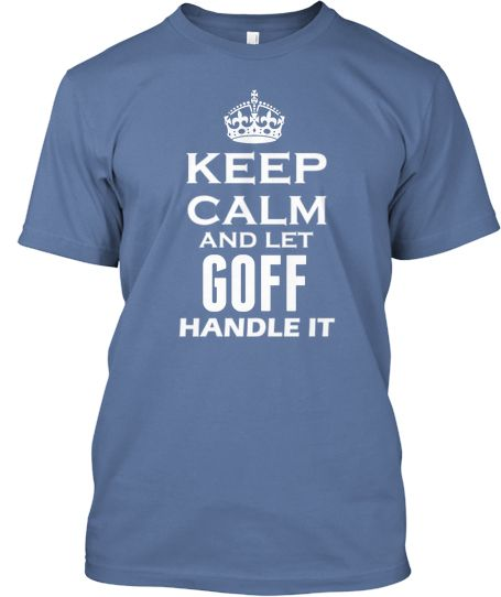 Are you a Goff? Then the shirt is for you :-)