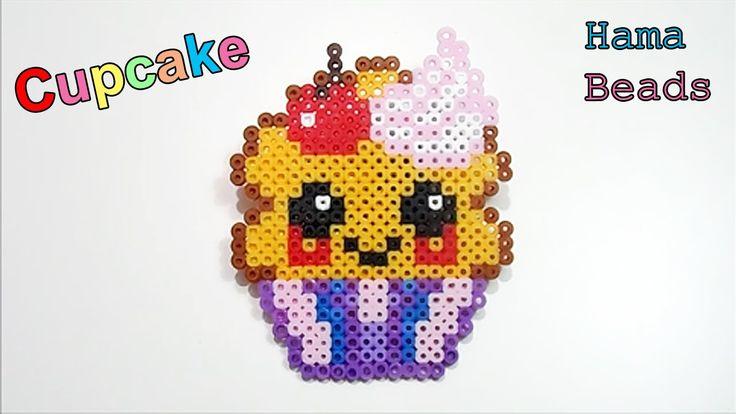 ♥ Tutorial Cupcake Kawaii Hama Beads / Perler beads ♥