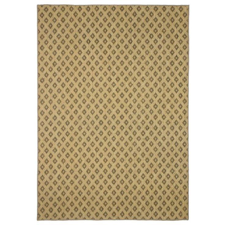 Alfombra de sisal a medida online con dibujo de rombos de sisal en color gris o marron. Posibilidad de hacer alfombra a medida con festón o cenefa de color.