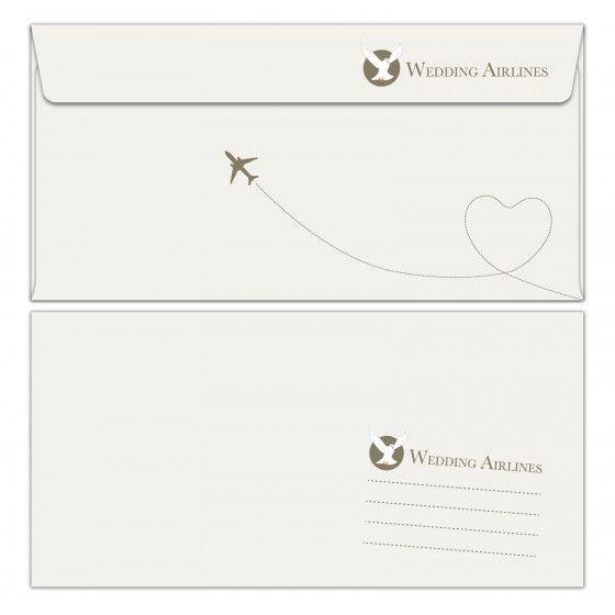 Design Briefumschläge DIN lang – Wedding Airlines