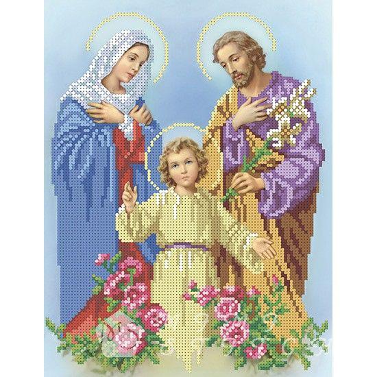Канва с рисунком для бисера Святое Семейство Т-0531 #icon #religious #beadwork #embroidery
