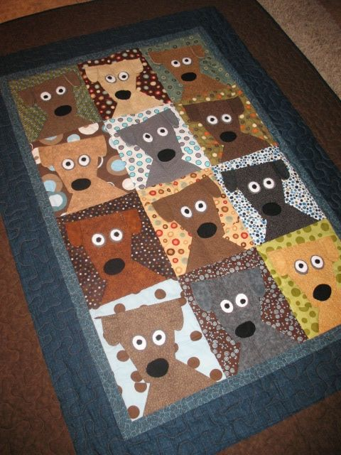 Dog Daze Quilt designed by Kimberly Rade.  Pattern can be found at www.FonsandPorter.com.