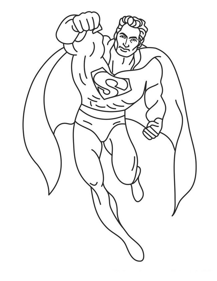Free Coloring Pages Superman Superman Coloring Pages Superhero Coloring Pages Superhero Coloring