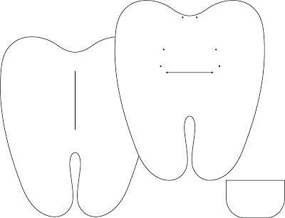 Molde de Dente de Feltro para Imprimir | Espaço Infantil