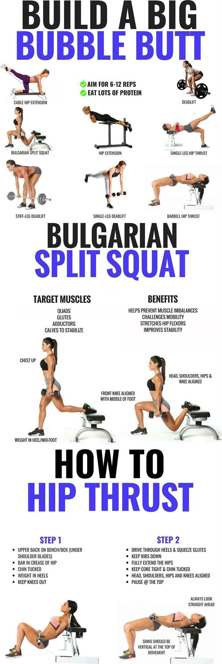 25 +> Glutes Workout & Exercises For Women – 20 Exercises For Brazilian Butt – Fitness & Health