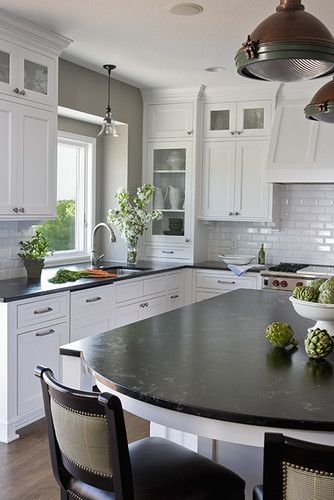 LOVE  Kitchen Black And White Kitchen Design, Pictures, Remodel, Decor and Ideas