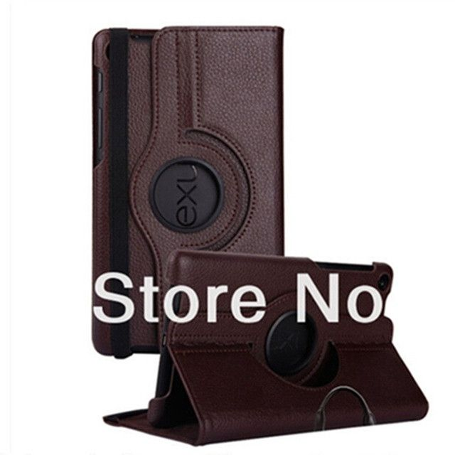 For Google Nexus 7 2nd 2013 PU Leather Case Cover 360 Rotating Stand Flip Ultra Slim Smart Tablet +screen film+stylus