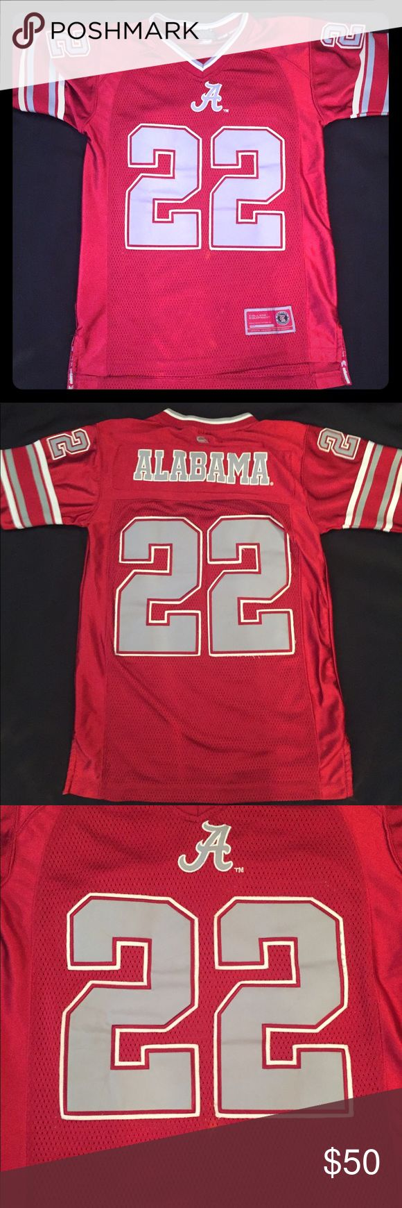 🏈ROLL TIDE ROLL🏈 ALABAMA #22 Jersey Youth Small 🏈ROLL TIDE ROLL🏈 ALABAMA #22 Jersey Youth Small. Used but in great condition. Youth small able to wear if women small. SEC football championship jersey Tops