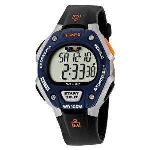 Timex Men's T5E931 Ironman 30-Lap Resin Strap Watch: Black Silver Tone Blu Resins, Straps Watches, T5E931 Ironman, Ironman Traditional, Timex Men, Resins Straps, Ironman 30 Lap, 30 Lap Resins, Men T5E931