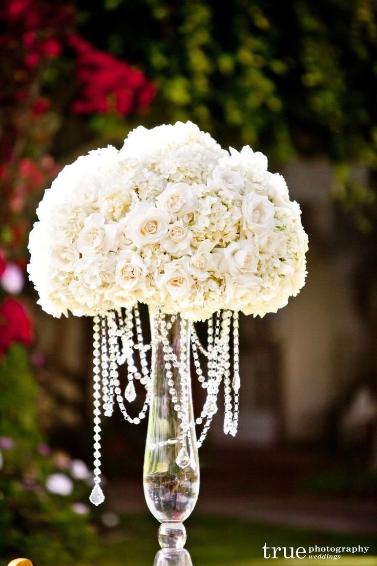 glamorous silk flower centerpieces | perfection with all tall, dramatic ivory and white centerpieces ...