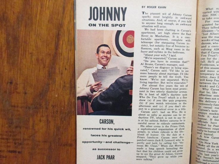1962 TV Guide(JOHNNY CARSON/JANET LAKE/TONY DOW/THE LENNON SISTERS/JERRY MATHERS