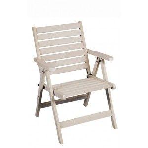 πολυθρόνα εξωτερικού χώρου λε λευκό πατινέ χρώμα , ρυθμιζόμενη χαμηλη ή ψηλή πλάτη