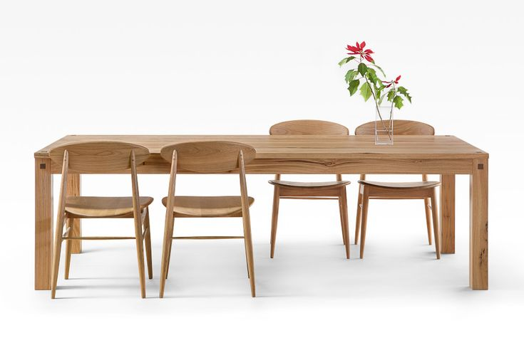 Blackbutt table with straight legs