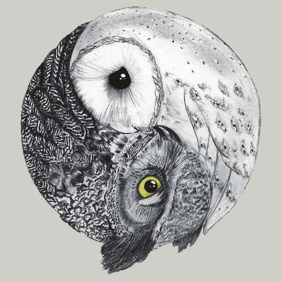 Love this one! Yin & Yang Owls <3 :)