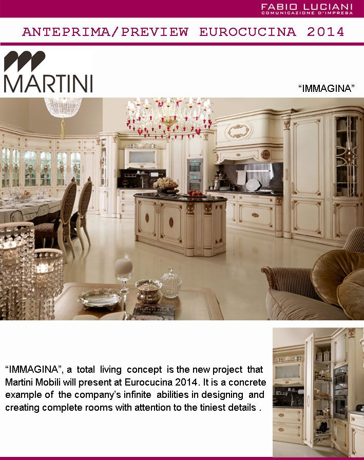 "#MartiniMobili presents Immagina, a ""total living"" kitchen project, at #Eurocucina 2014."