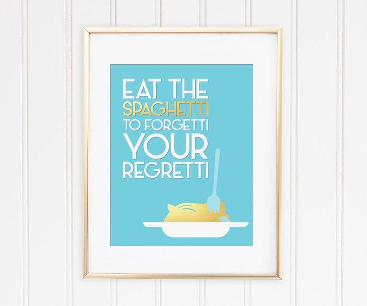 Un favorito personal de mi tienda de Etsy https://www.etsy.com/es/listing/558697759/eat-the-spaghetti-to-forgetti-your