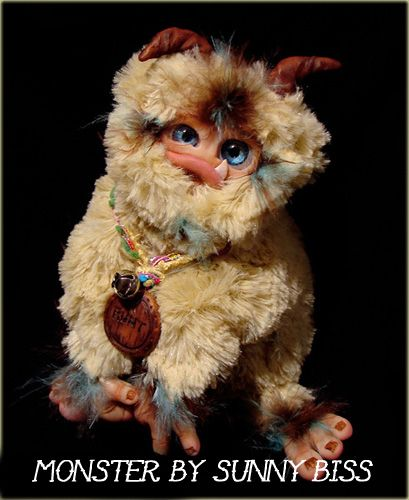 """""""Runt"""" A one of a kind Monster by Sunny Biss http://www.sunnybiss.com"""