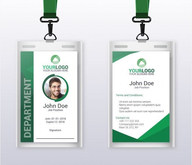 Design A Professional Id Card Letter Card Gift Card Design
