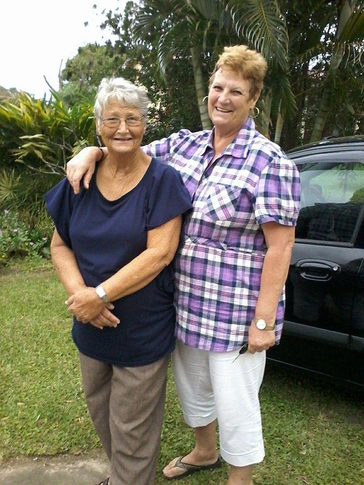 My two old pals, Martie du Toit and Erna De Villiers Nel