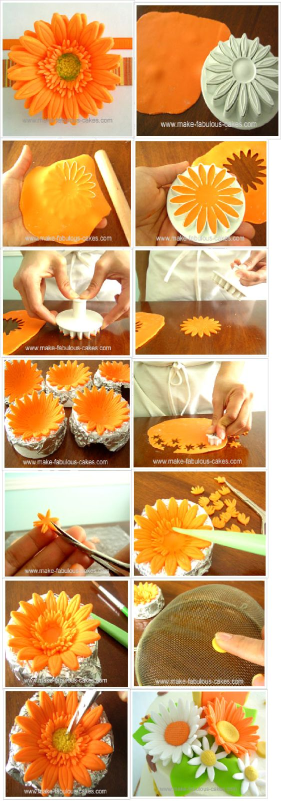 .fondant flowers - sounds easy