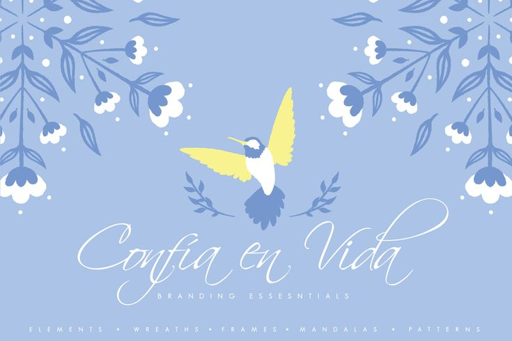 As always, 30%OFF for the first week. Normal price $15, valid until 28 March 2018! :)  Introducing 'Confia en Vida', a branding essential kit that created to help designers develope their design professionally. Simply combine elements with frames, patterns or other items and create beautiful design which can be used as branding/letter set, stationery, wedding invitations and so much more!